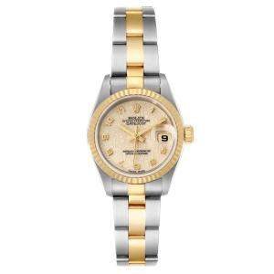 Rolex Silver 18K Yellow Gold And Stainless Steel 18K Datejust 79173 Women's Wristwatch 26 MM