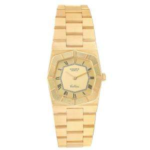 Rolex Champagne 18K Yellow Gold Cellini 4360 Women's Wristwatch 26 MM