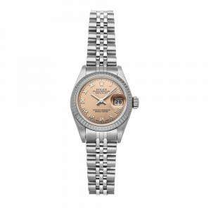 Rolex Salmon Stainless Steel Datejust 79174 Women's Wristwatch 26 MM