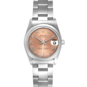 Rolex Salmon Stainless Steel Datejust 78240 Women's Wristwatch 31 MM