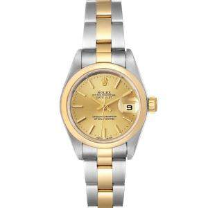 Rolex Champagne 18k Yellow Gold And Stainles Steel Datejust 79163 Women's Wristwatch 26 MM