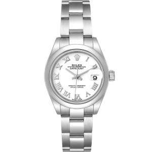 Rolex White Stainless Steel Datejust 279160 Automatic Women's Wristwatch 28 MM