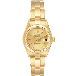 Rolex Champagne 18k Yellow Gold President Datejust 69168 Women's Wristwatch 26 MM