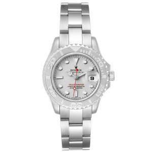 Rolex Platinum Stainless Steel Yachtmaster 169622 Women's Wristwatch 29 MM