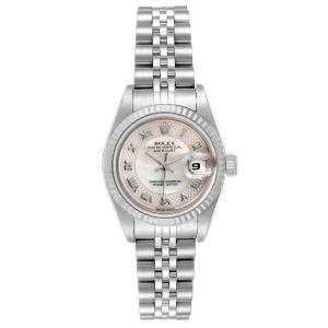 Rolex MOP Stainless Steel Datejust 79174 Women's Wristwatch 26 MM