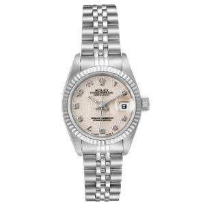 Rolex Sivler 18K White Gold And Stainless Steel Datejust 69174 Women's Wristwatch 26 MM
