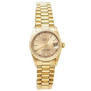 Rolex 18K Yellow Gold Datejust Automatic 68278 Women's Wristwatch 31 mm
