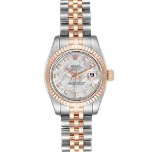 Rolex MOP 18k Rose Gold And Stainless Steel Datejust 179171 Women's Wristwatch 26 MM