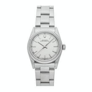 ساعة يد نسائية رولكس أويستر بربتوال 67514 ستانلس ستيل فضية 31 مم