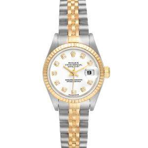 Rolex White Diamonds 18K Yellow Gold And Stainless Steel Datejust 79173 Women's Wriswatch 26 MM