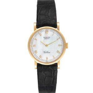 Rolex MOP 18K Yellow Gold Cellini Classic 5109 Women's Wristwatch 26 MM