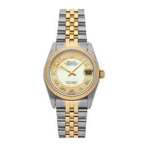 Rolex MOP 18K Yellow Gold And Stainless Steel Datejust 78273 Women's Wristwatch 31 MM