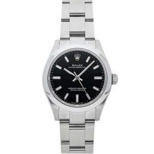Rolex Black Stainless Steel Oyster Perpetual 277200 Women's Wristwatch 31 MM