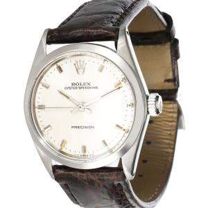 Rolex Silver Stainless Steel SpeedKing 6430 Women's Wristwatch 30 MM