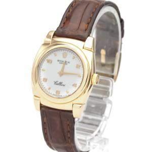 ساعة يد نسائية رولكس سليني مكانيكال 5310 ذهب وردي عيار 18 ألماس أبيض 26 مم
