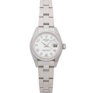 Rolex Silver Stainless Steel Oyster Perpetual Date 79190 Women's Wristwatch 26 MM