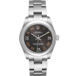 Rolex Grey Stainless Steel Oyster Perpetual 177200 Women's Wristwatch 31 MM