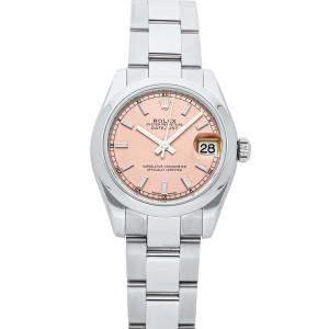 Rolex Pink Stainless Steel Datejust 178240 Women's Wristwatch 31 MM