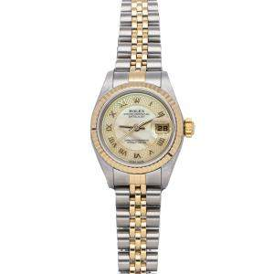 Rolex MOP 18K Yellow Gold And Stainless Steel Datejust 79173 Women's Wristwatch 26 MM