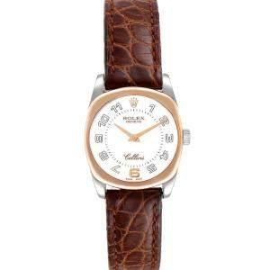 Rolex White 18K White And Rose Gold Cellini Danaos 6229 Women's Wristwatch 26.5 MM