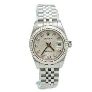 Rolex Datejust Stainless Steel Jubilee Diamond Dial Ladies Watch 26 MM