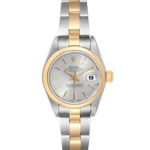 Rolex Silver 18K Yellow Gold And Stainless Steel Datejust 79163 Women's Wristwatch 26 MM