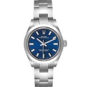 Rolex Blue Stainless Steel Oyster Perpetual 276200 Women's Wristwatch 28 MM