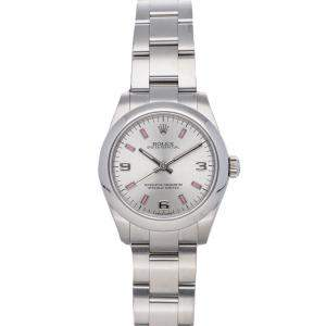 Rolex Silver Stainless Steel Oyster Perpetual 177200 Women's Wristwatch 31 MM