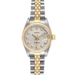 Rolex Diamond 18K Yellow Gold And Stainless Steel Datejust 79173 Women's Wristwatch 26 MM
