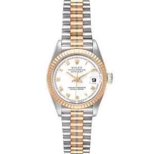 Rolex White 18K White Yellow Rose Gold President Tridor 69179 Women's Wristwatch 26 MM