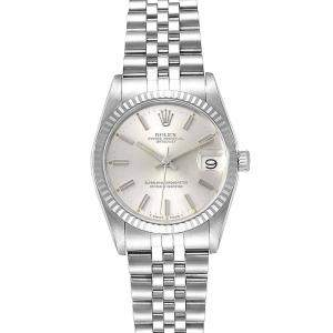 Rolex 18K White Gold And Stainless Silver Datejust 68274 Women's Wristwatch 31 MM