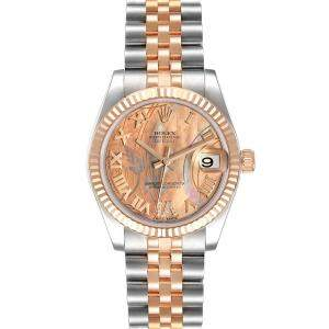 Rolex Goldust Dream Diamonds 18K Rose Gold And Stainless Steel Datejust 178271 Women's Wristwatch 31 MM