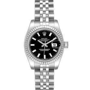 Rolex 18K White Gold And Stainless Steel Datejust 179174 Women's Wristwatch 26 MM
