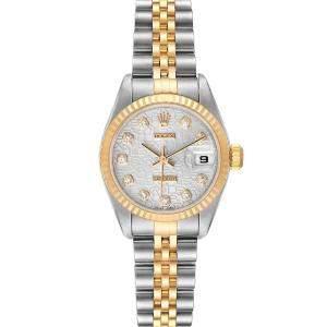 Rolex Diamonds 18K Yellow Gold And Stainless Steel Datejust 79173 Women's Wristwatch 26 MM