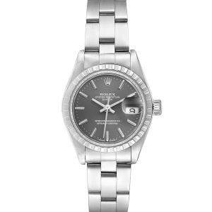 Rolex Grey Stainless Steel Oyster Perpetual Oyster Perpetual Date 69240 Women's Wristwatch 26 MM