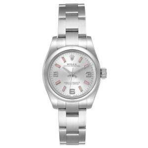Rolex White Stainless Steel Oyster Perpetual 176200 Women's Wristwatch 26 MM