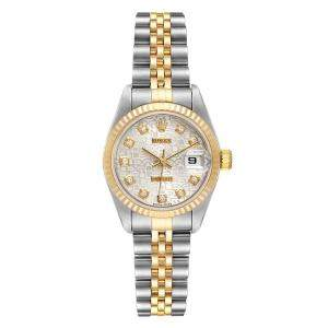 Rolex Silver Diamonds 18K Yellow Gold And Stainless Steel Datejust 79173 Women's Wristwatch 26 MM