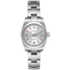 Rolex Silver Stainless Steel Oyster Perpetual 176200 Women's Wristwatch 26 MM