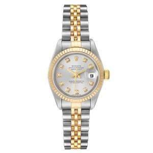 Rolex Grey Diamonds 18K Yellow Gold And Stainless Steel Datejust 79173 Women's Wristwatch 26 MM