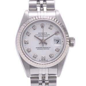 Rolex White Diamonds 18K White Gold And Stainless Steel Datejust 79174G Automatic Women's Wristwatch 26 MM