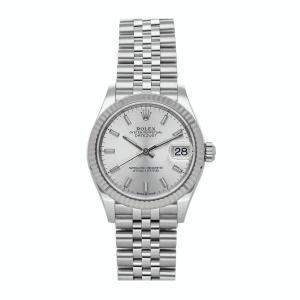 Rolex Silver 18K White Gold And Stainless Steel Datejust 278274 Women's Wristwatch 31 MM