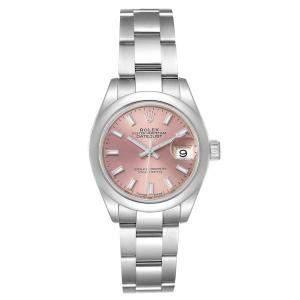 Rolex Pink Stainless Steel Datejust 279160 Men's Wristwatch 28 MM