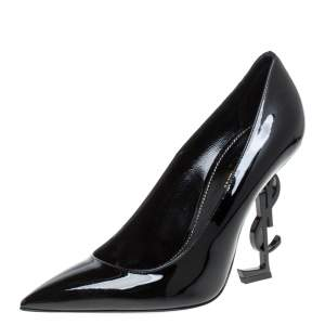 Saint Laurent Black Patent Leather Opyum Pumps Size 38