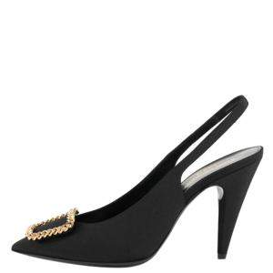 Saint Laurent Grosgrain Canvas St Sulpice Pumps Size 38