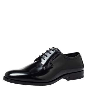 Saint Laurent Black Leather Lace Up Derby Size 38