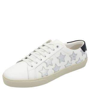 Saint Laurent Paris White Leather Court Classic SL/06 California Sneakers Size EU 35