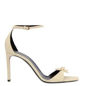 Saint Laurent Paris Beige Bea Bow Sandals Size EU 40