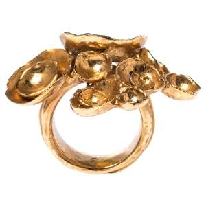 Yves Saint Laurent Paris Arty Flower Ring Size EU 49