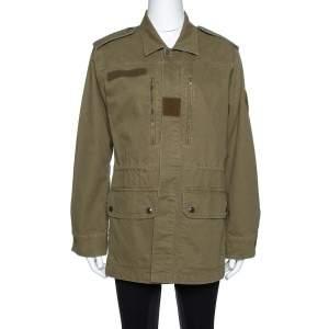 Saint Laurent Paris Green Cotton & Linen Military Jacket M