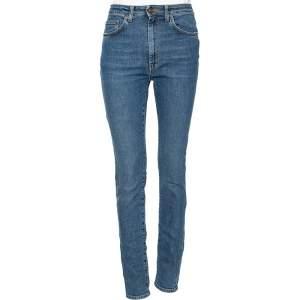 Saint Laurent Blue Denim High Waisted Skinny Jeans S